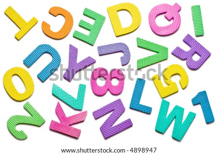 A lot of letters isolated on the white background - stock photo