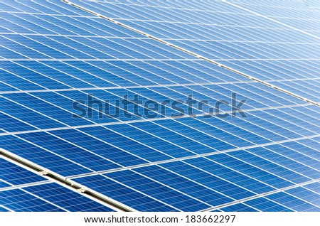 a lot of solar cells perfectly for background using - stock photo