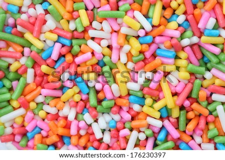 a lot of sprinkles as a background - stock photo