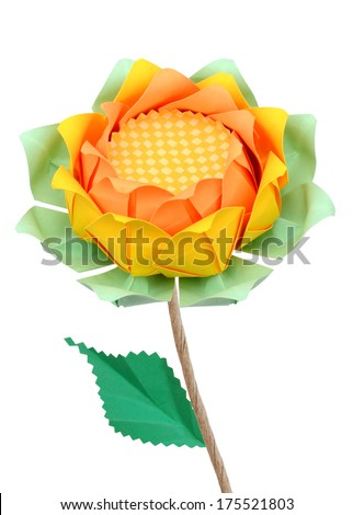 A lotus paper - stock photo