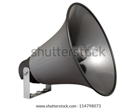 A loudspeaker on an isolated background - stock photo