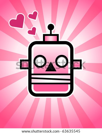 A love robot, - stock photo