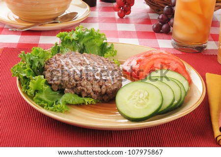 A low fat, low crab diet lunch - stock photo