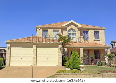 A luxury residential house building in Sydney Australia - stock photo