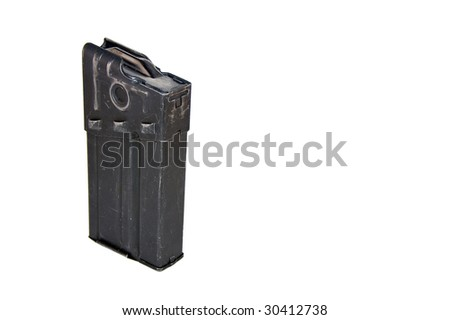 A mag for automatic carbin 4 (ak4) isolated on whit - stock photo
