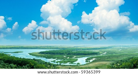 A magnificent view. Panorama - stock photo