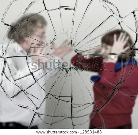 A man and woman arguing. - stock photo