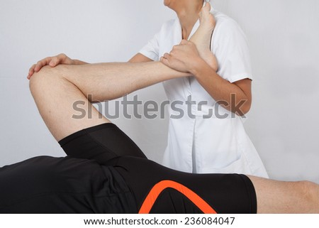A man getting a massage - stock photo