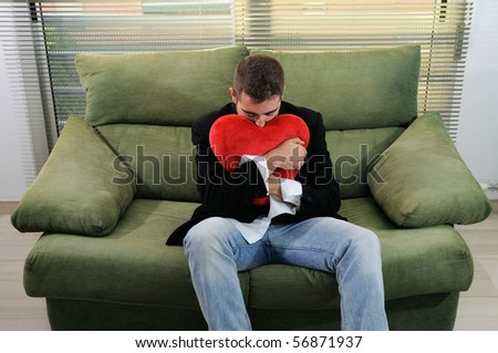 A man in love - stock photo