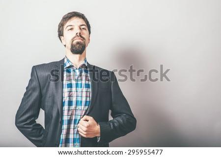 a man proud - stock photo