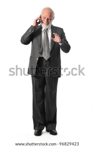 a man talking in his mobile phone - stock photo
