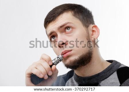 A man vaping - stock photo