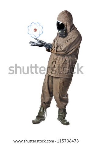 A man wearing an NBC Suite (Nuclear - Biological - Chemical) - stock photo