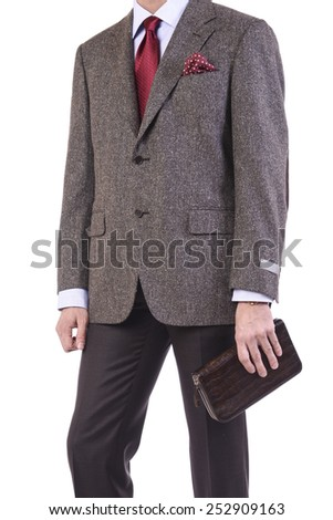 A man with a wallets in his hand - stock photo