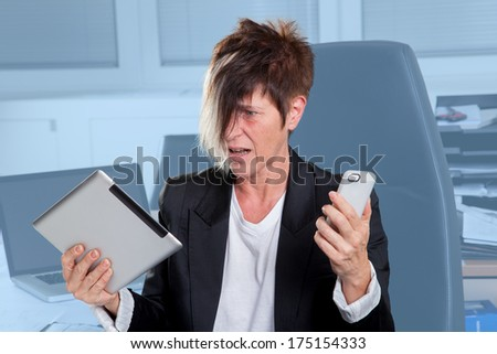 A Manager is completely helpless in her job. - stock photo