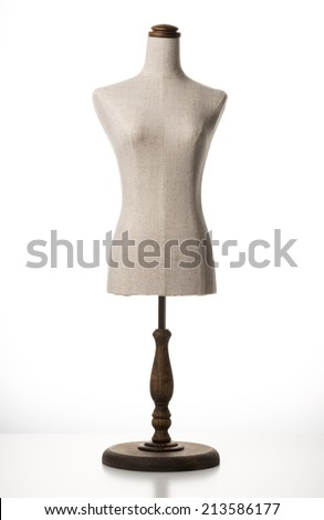 A mannequin on white background - stock photo