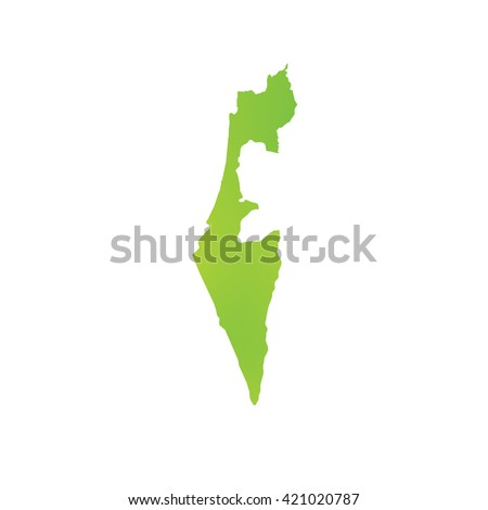 A Map of the country of Israel - stock photo