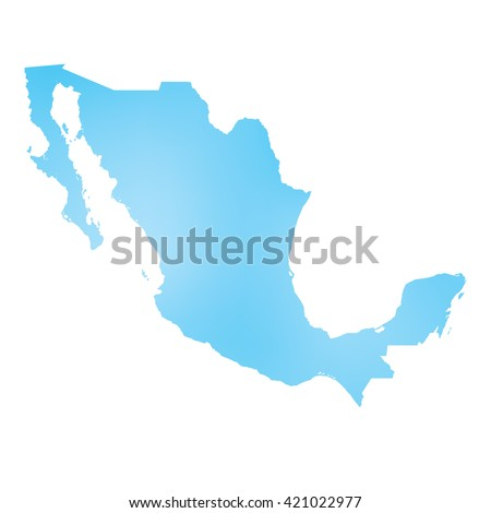 A Map of the country of Mexico - stock photo