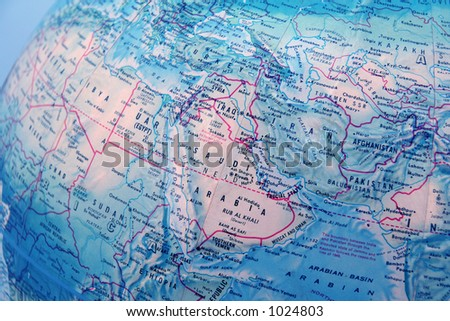 A map or globe of the earth 2 - stock photo