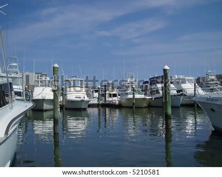 A marina in Virginia Beach - stock photo