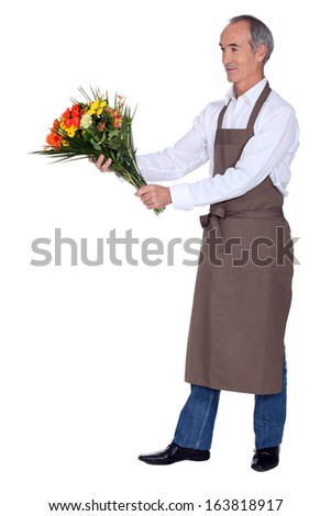 A mature florist. - stock photo