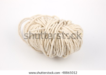 A messy ball of string - stock photo