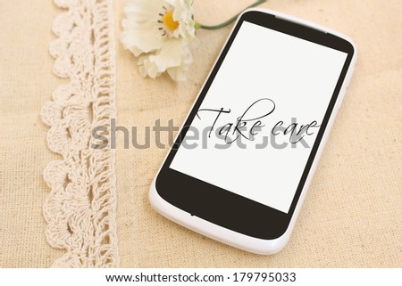 A mobile phone. - stock photo