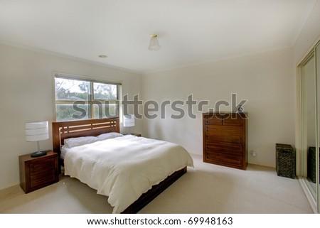 A Modern Bedroom - stock photo