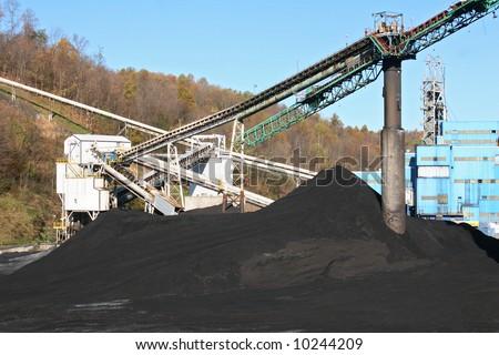 A modern coal mine. - stock photo