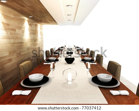 A modern dinning area - stock photo