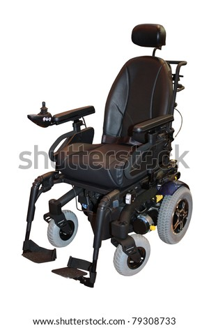 A Modern Electric Motorised Disability Wheelchair. - stock photo
