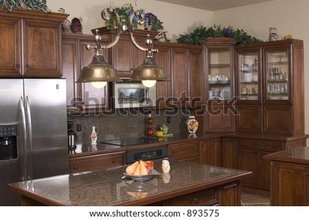 a modern kitchen - stock photo