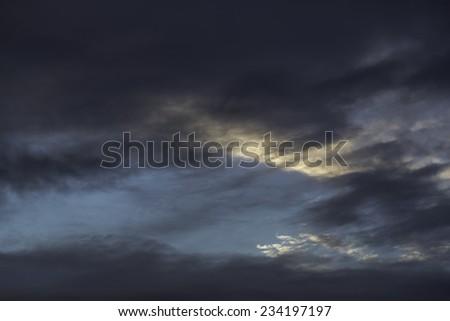A moody sky - stock photo