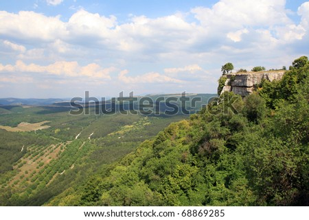 A mountain view in the Crimea - stock photo