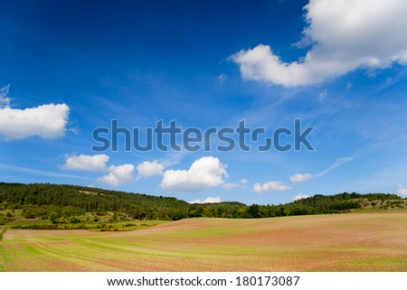 a natural landscape near the Thuringian Forest - stock photo