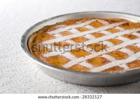 A Neapolitan Pastiera: Wheat Grain Pie - stock photo