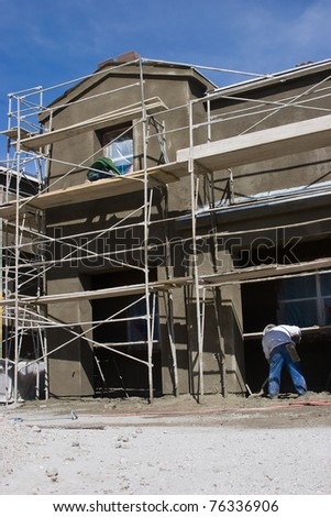 A new home is in progress of being built. - stock photo