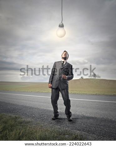 A new idea  - stock photo