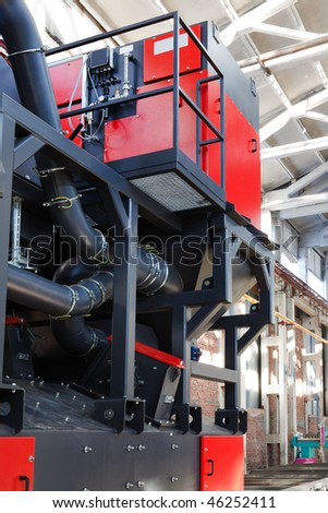 a new sandblasting machine for modern plant - stock photo