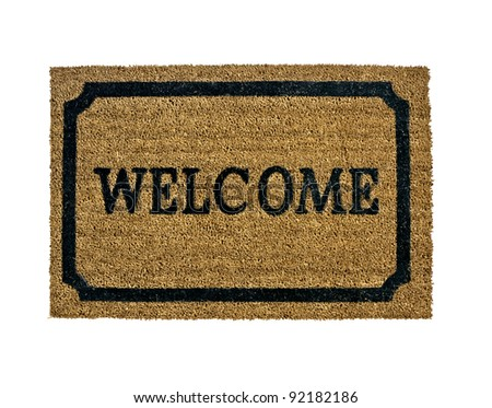A new welcome doormat isolated - stock photo