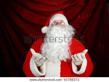 a nice classic portrait of Santa Claus - stock photo