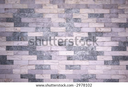 A nice white brick wall - stock photo
