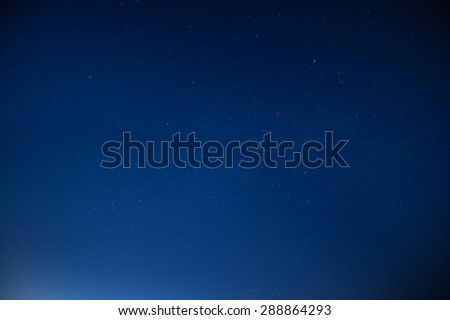 A night and the stars - stock photo