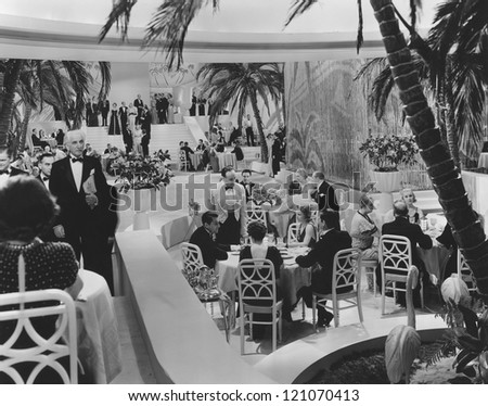 A night at the supper club - stock photo