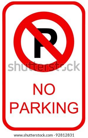 A no parking sign for use in any traffic inference. - stock photo