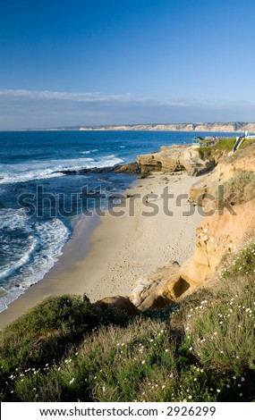 A north view of the La Jolla Shell Beach - stock photo