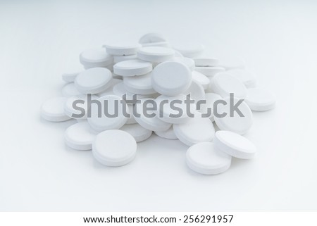 a number of medicine pills - stock photo