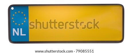 a number plate from holland (NL) - stock photo