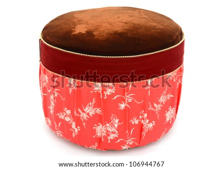 A old round clothing chair - stock photo
