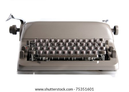 a old typewriter - stock photo